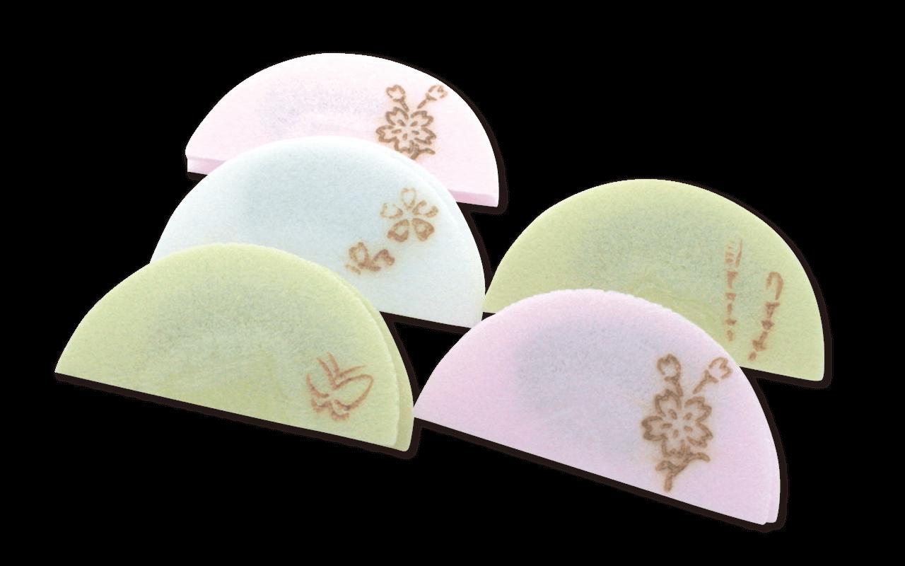 【亀屋良長】京半月 桜柄 5枚入